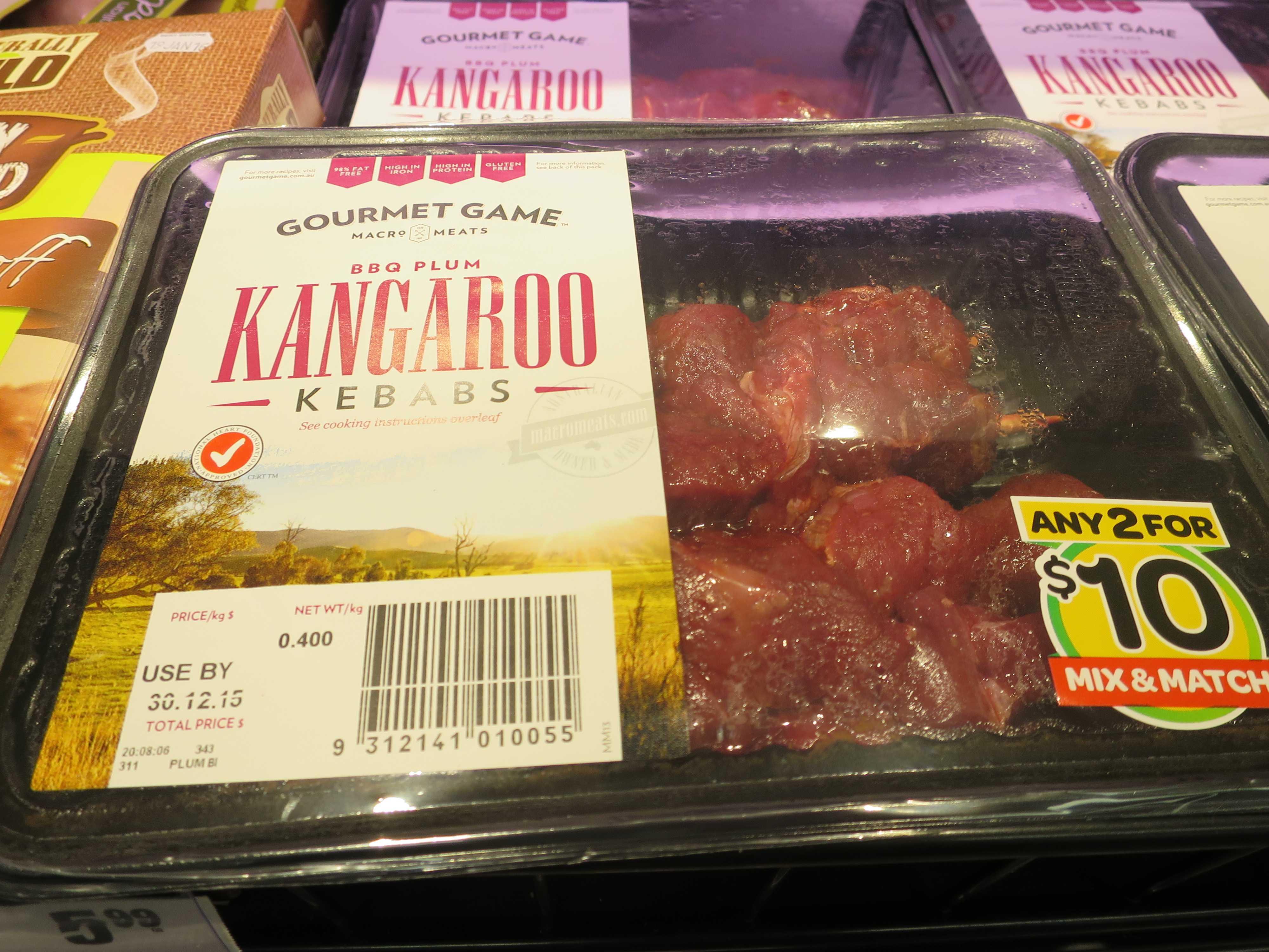 ケアンズ市内のスーパー - カンガルーの肉