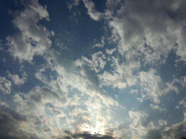夕暮れの八王子の空と雲