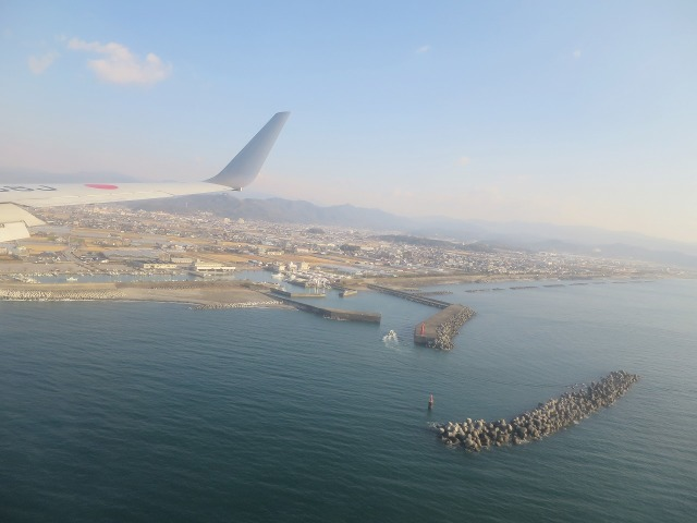 高知空港 着陸