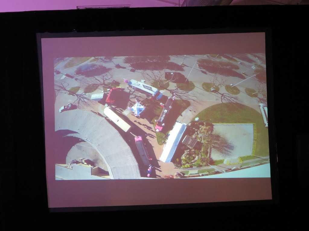 サンタクララ・フェアグラウンズ上空からの写真