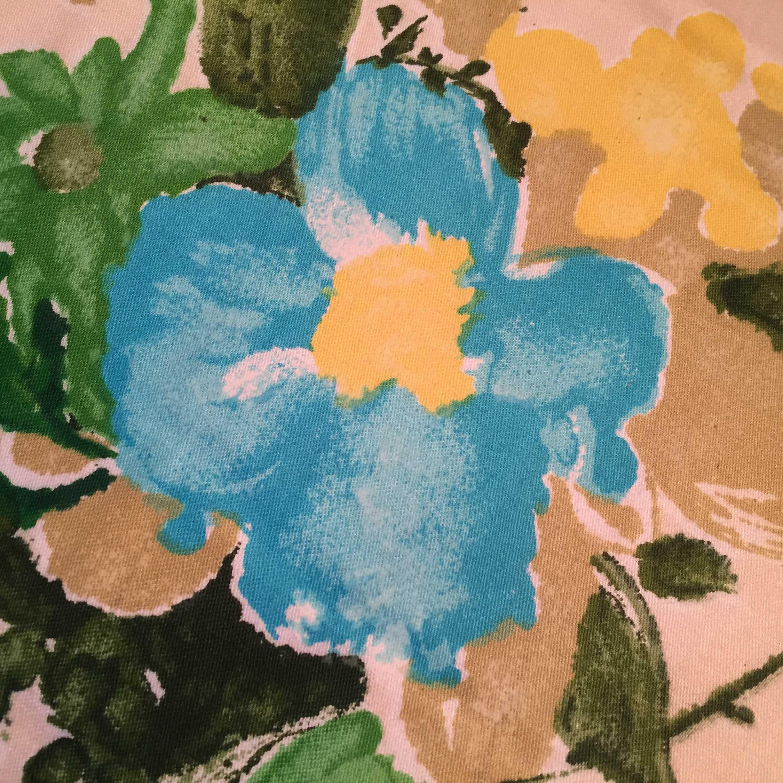青い花のかけぶとん