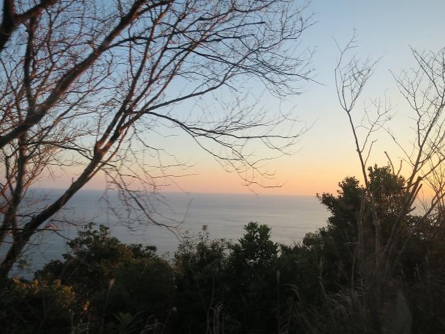 高知の夕暮れの海
