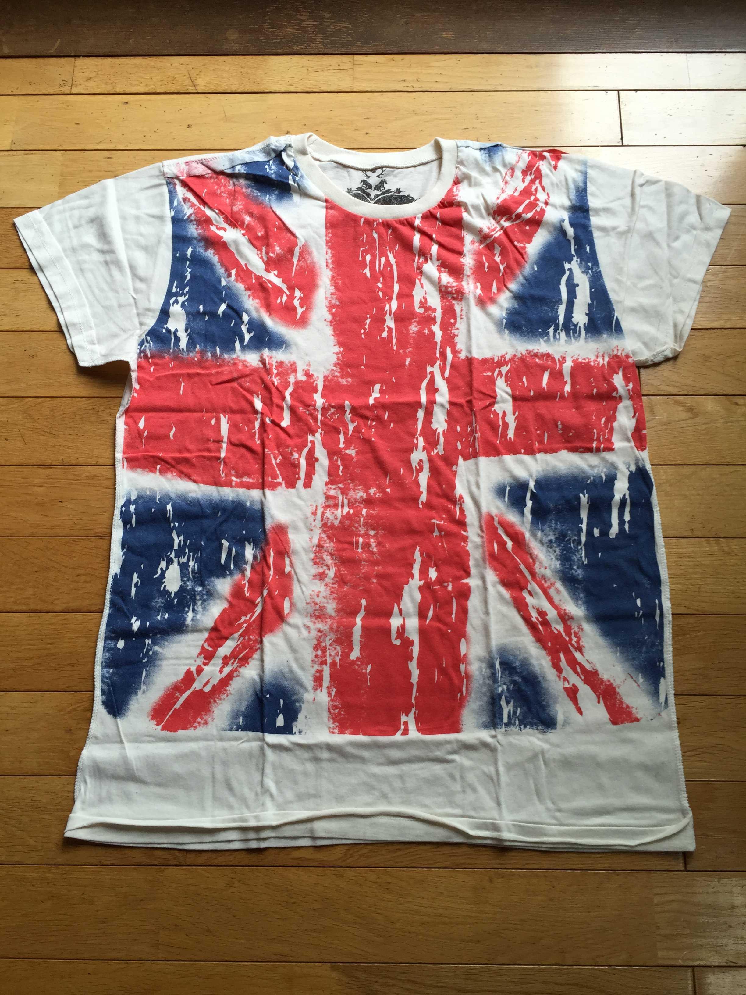 ユニオンジャック(英国旗)のTシャツ