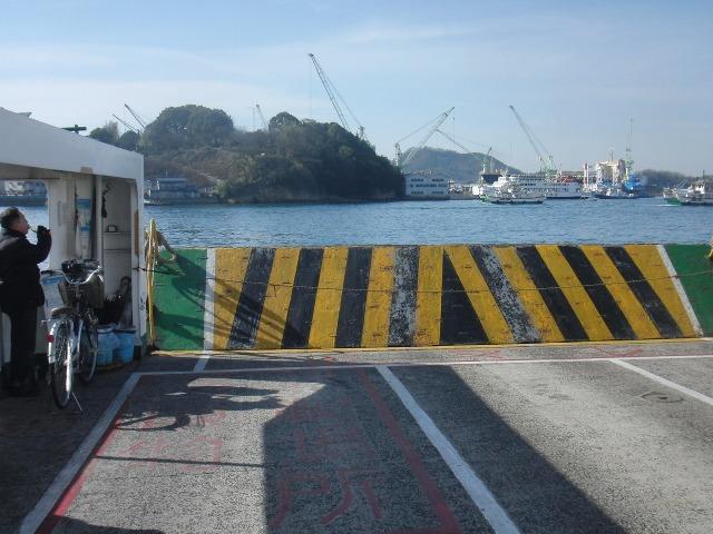 福本渡船(連絡船)の上