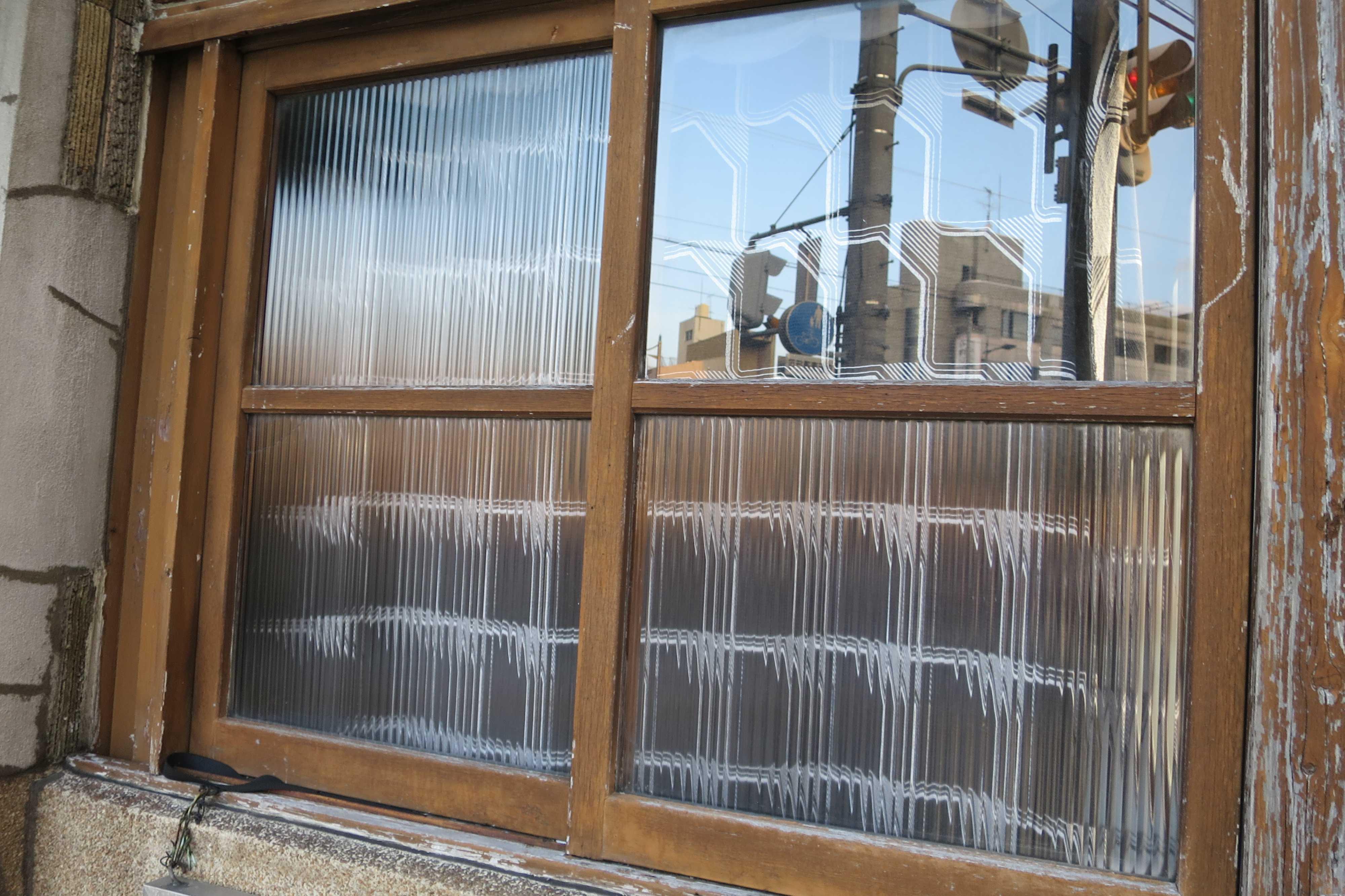 京都 - 民家のくもりガラス