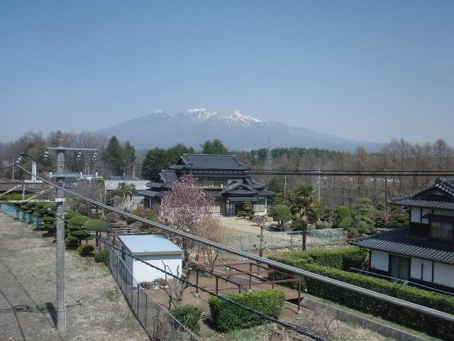 JR日野春駅構内から見えた八ヶ岳