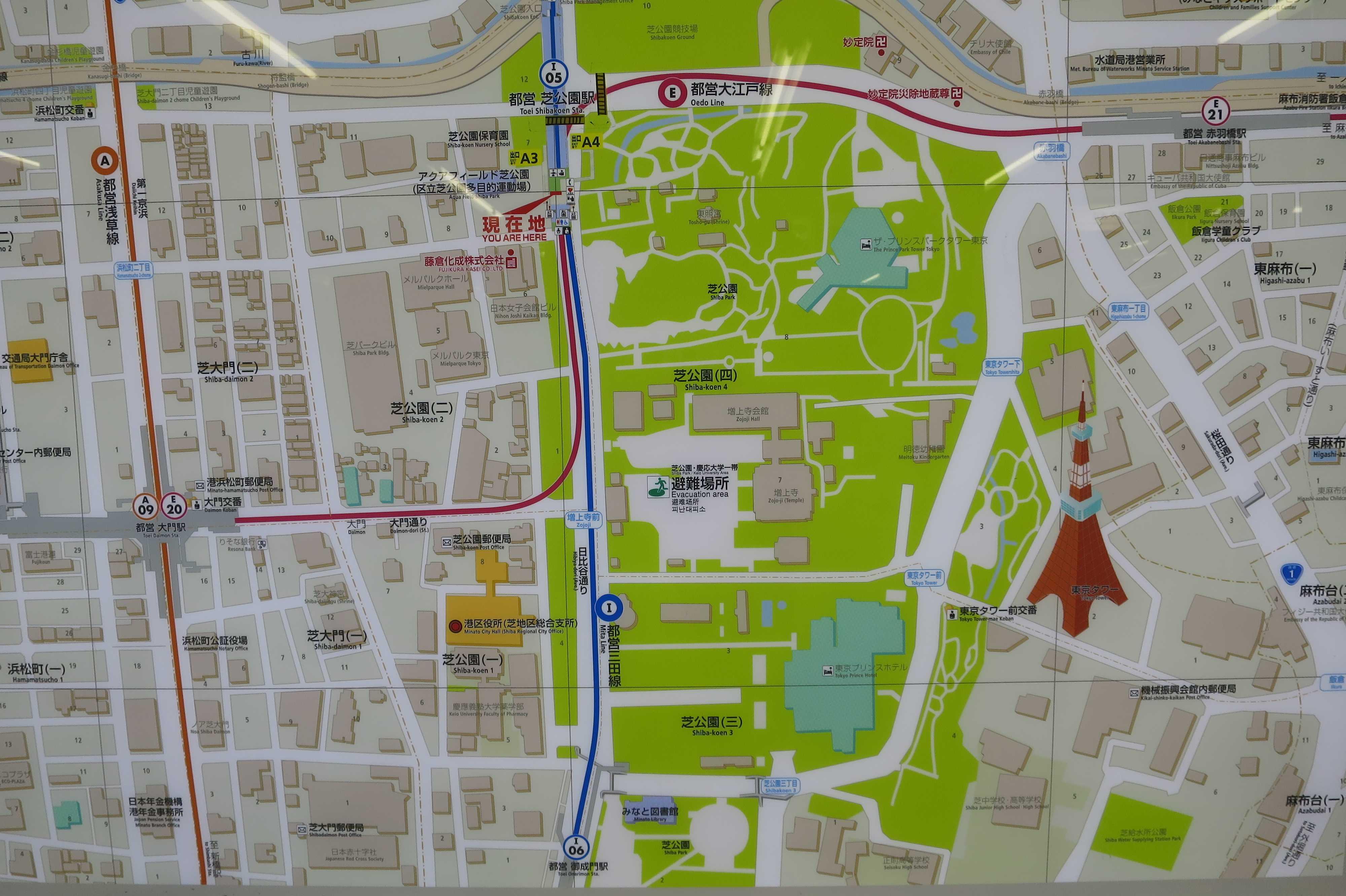 芝公園の地図(マップ)