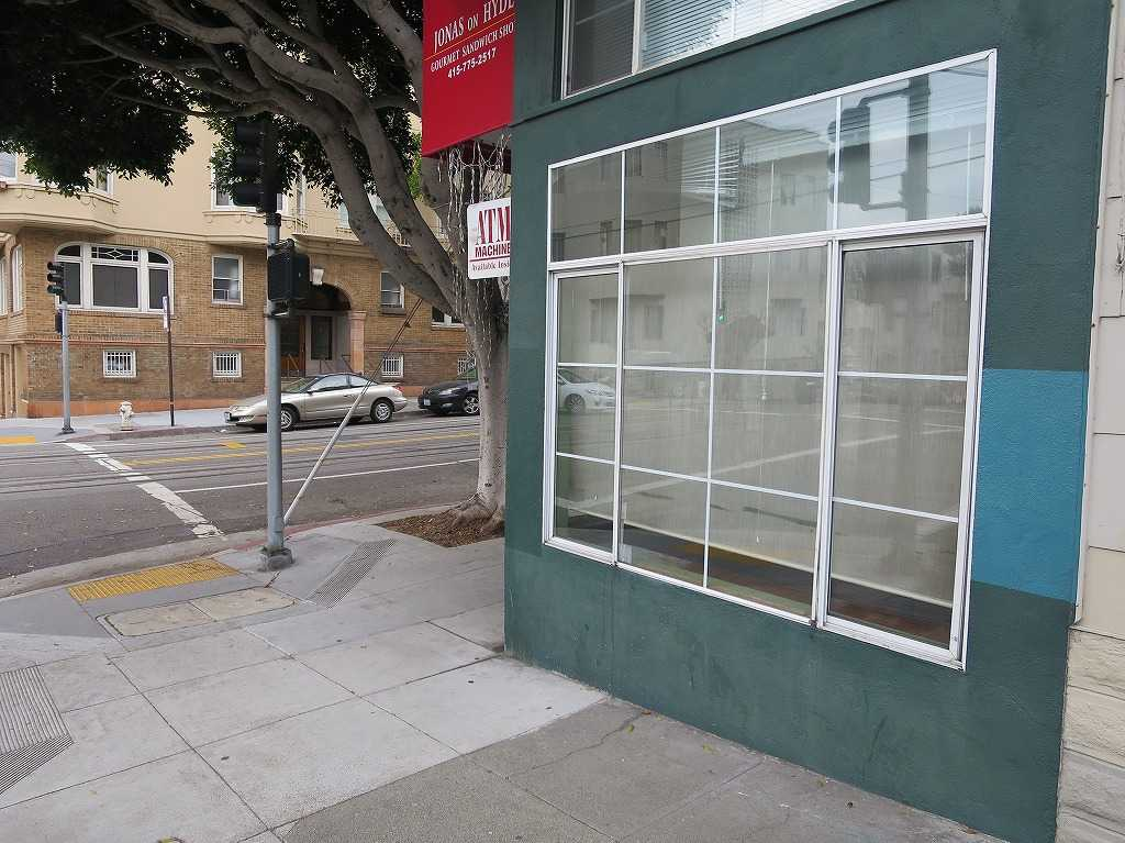 サンフランシスコ - バレイヨ・ストリート(Vallejo St)とハイド・ストリート(Hyde St)の交差点