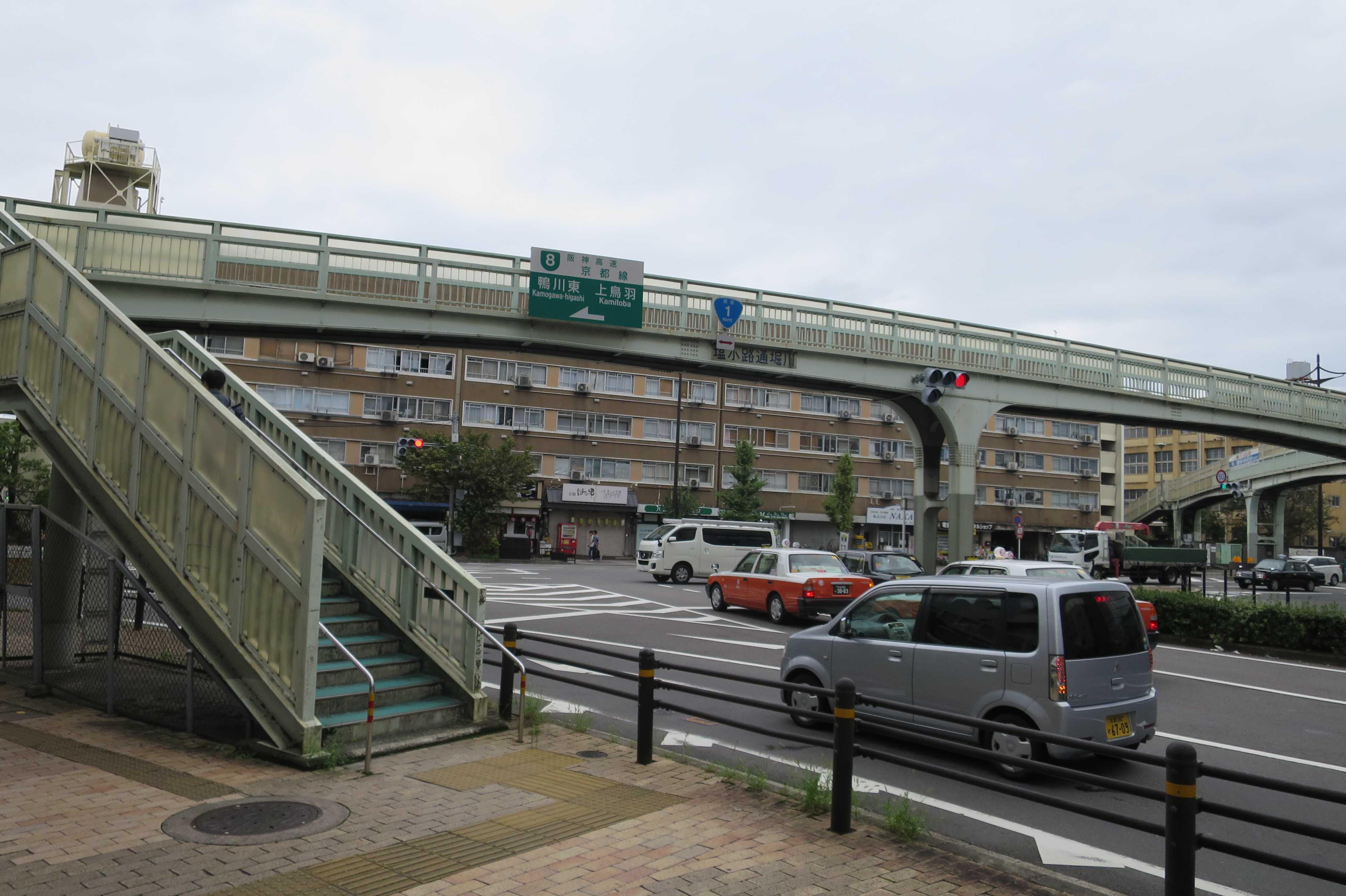京都 - 堀川塩小路の歩道橋