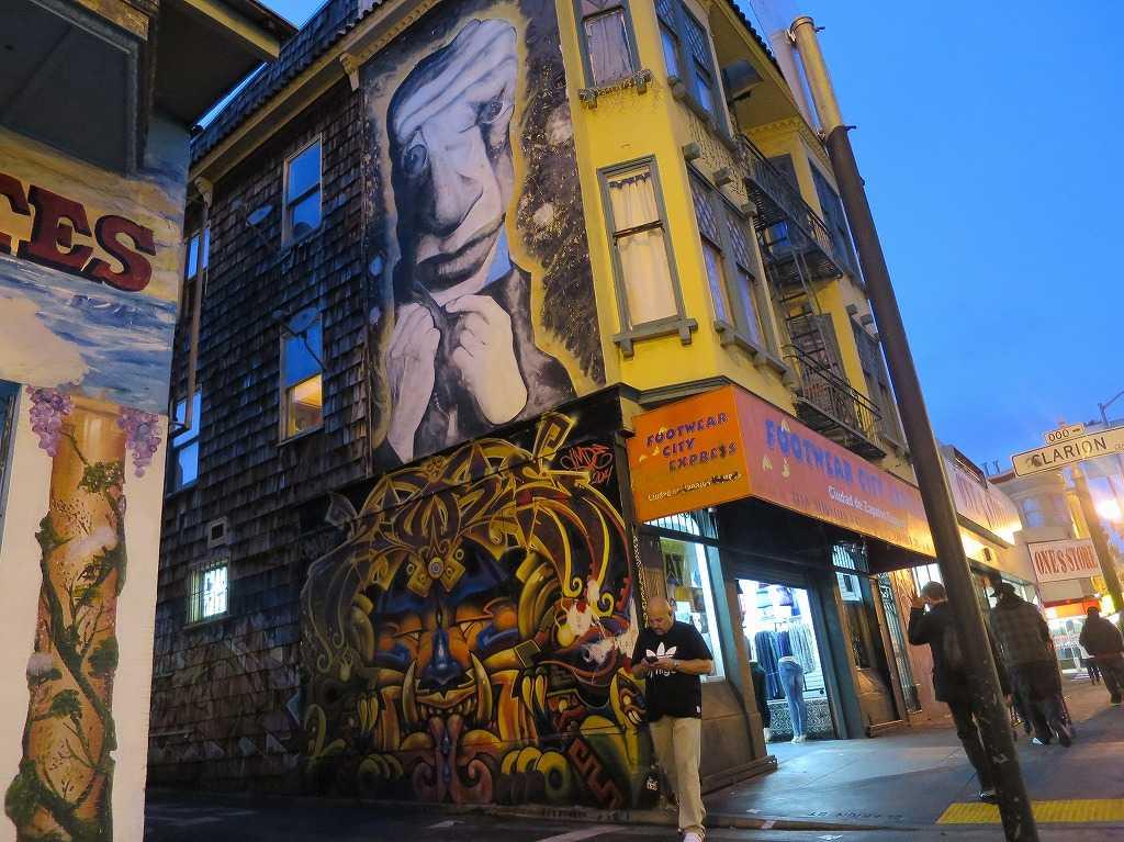 サンフランシスコ - ミッション地区のグラフィティアートストリート