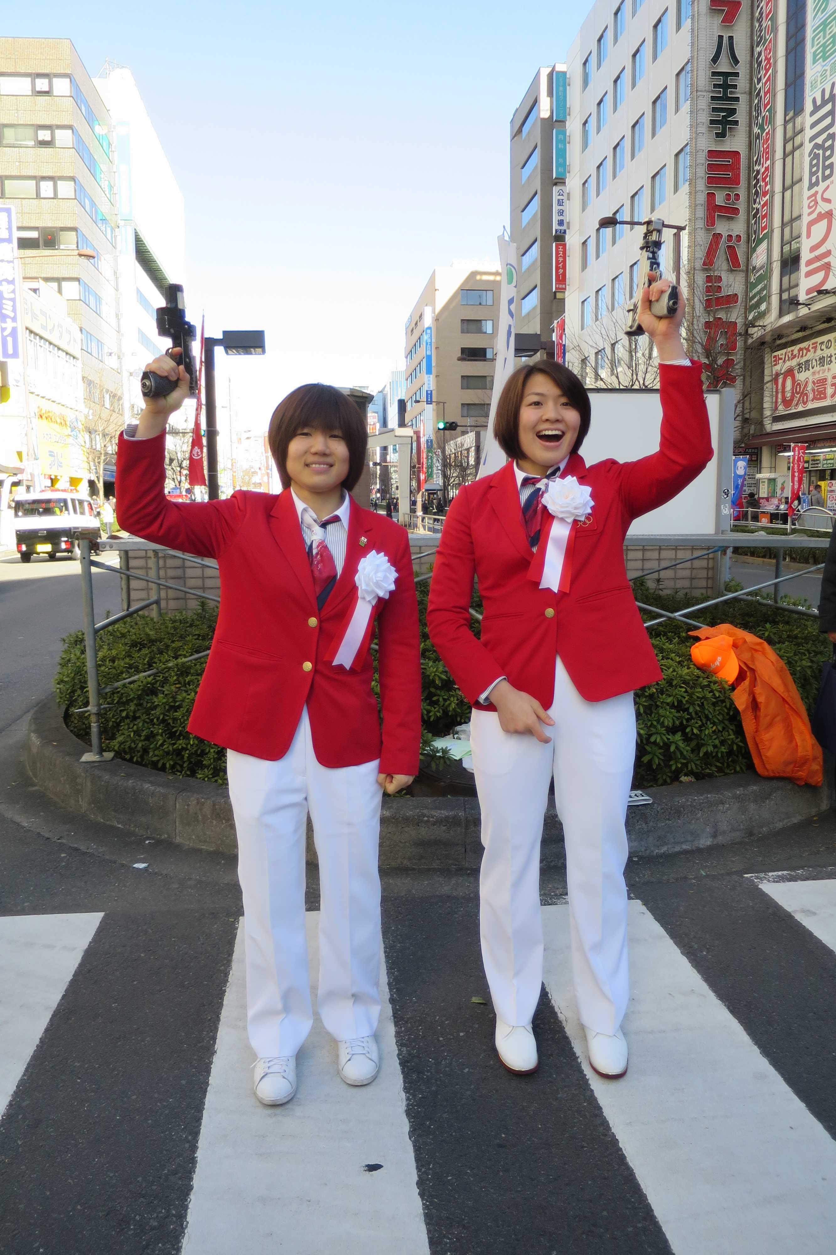 女子柔道の中村美里選手と田代未来(みく)選手のかわいい写真