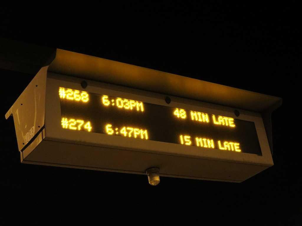 カルトレイン 、大幅な遅れ。- 遅延