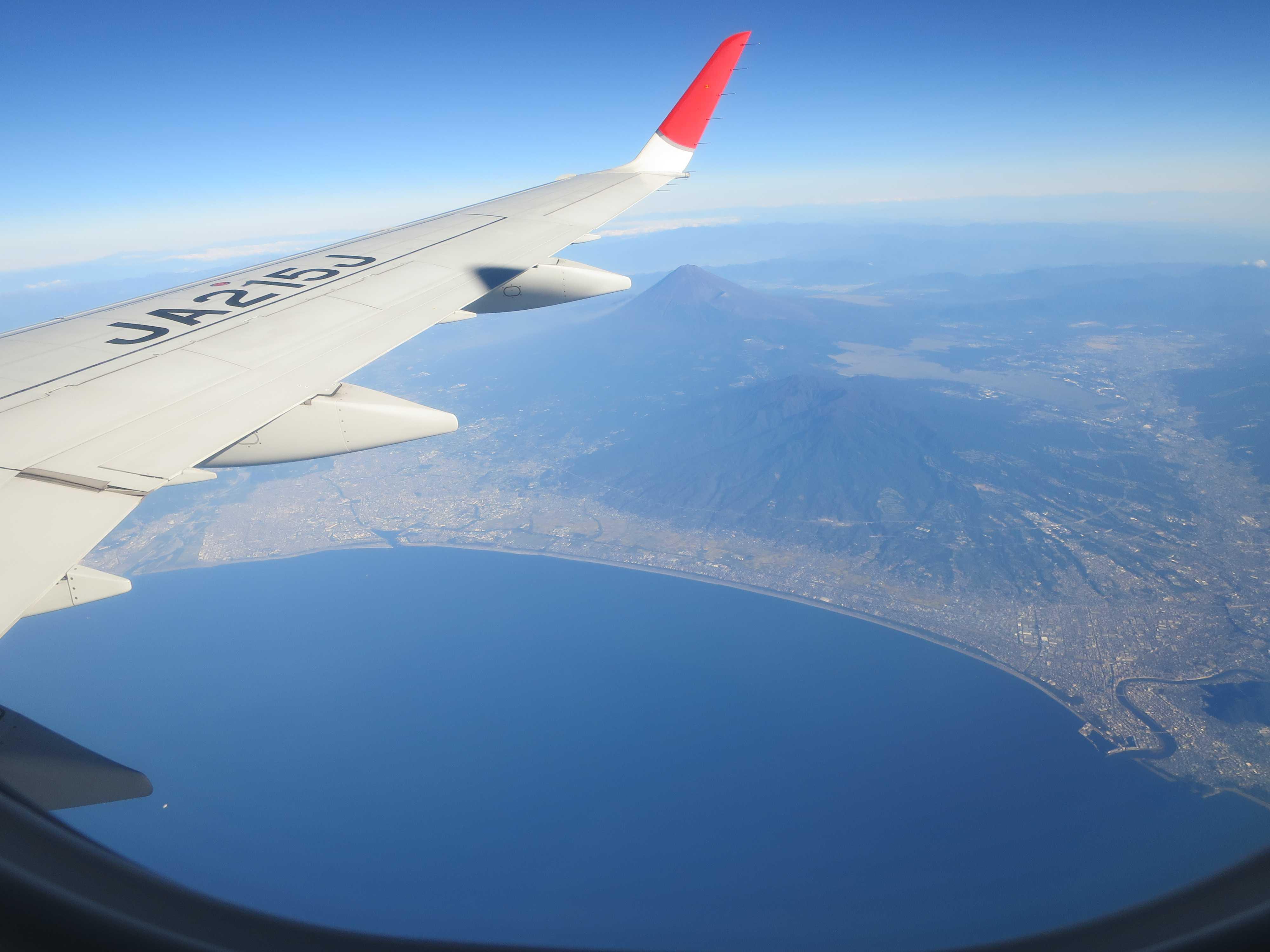 駿河湾上空