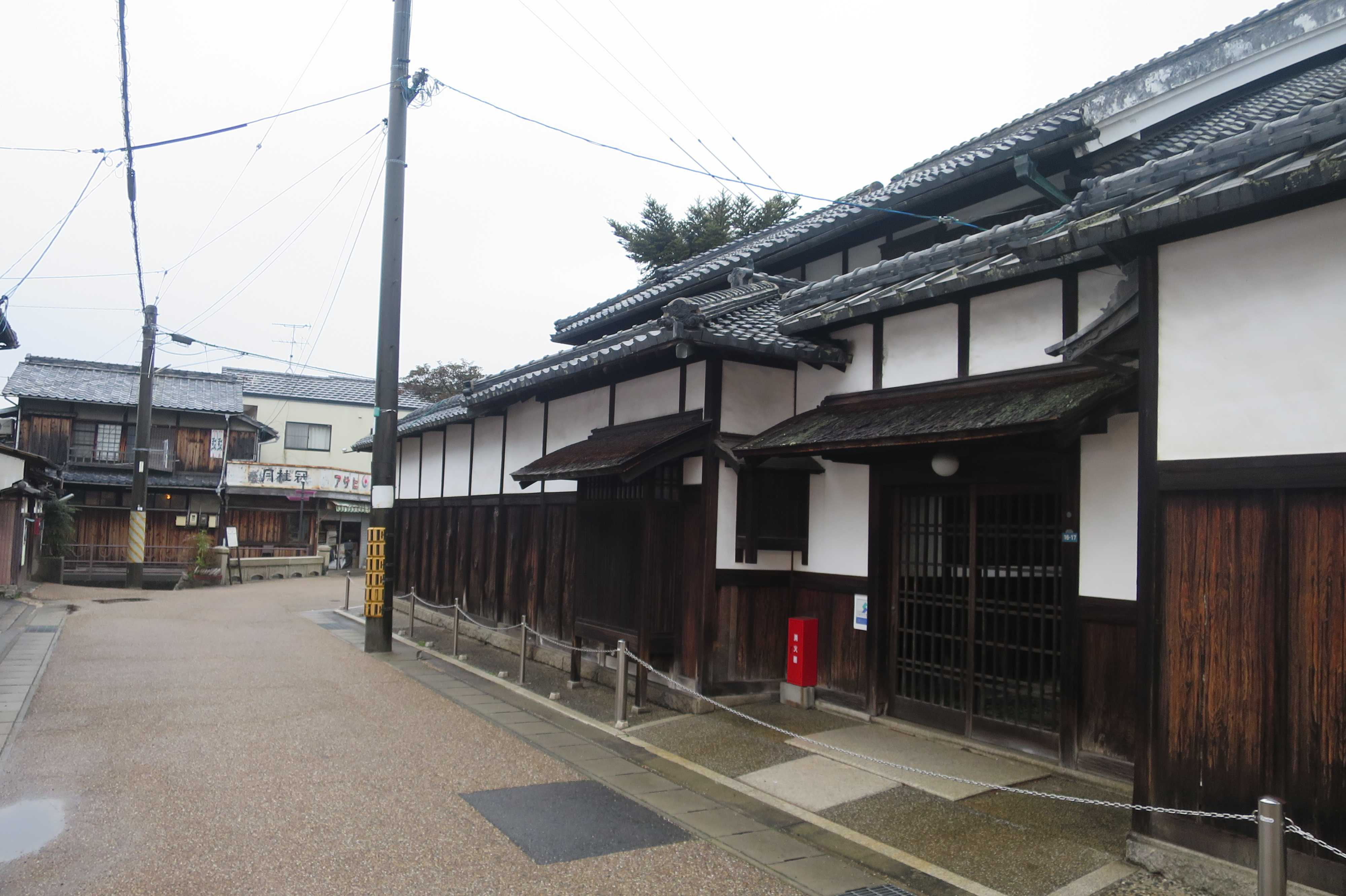 西大寺の古い街並み