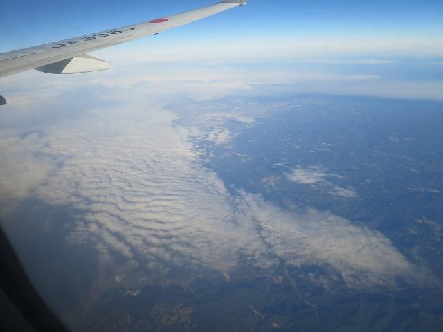 飛行機から見えた雲