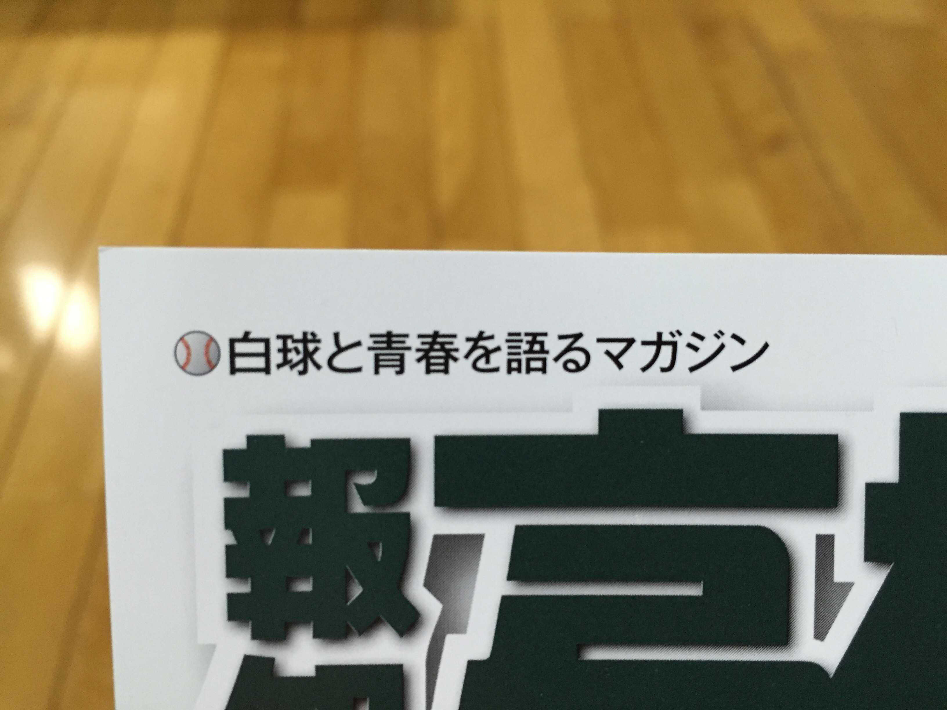 白球と青春を語るマガジン(報知高校野球)