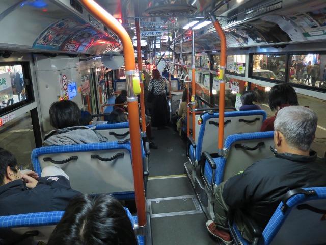 JR京都駅行きバスの車内