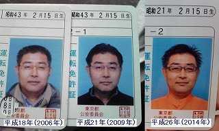 村内伸弘の運転免許証の顔写真