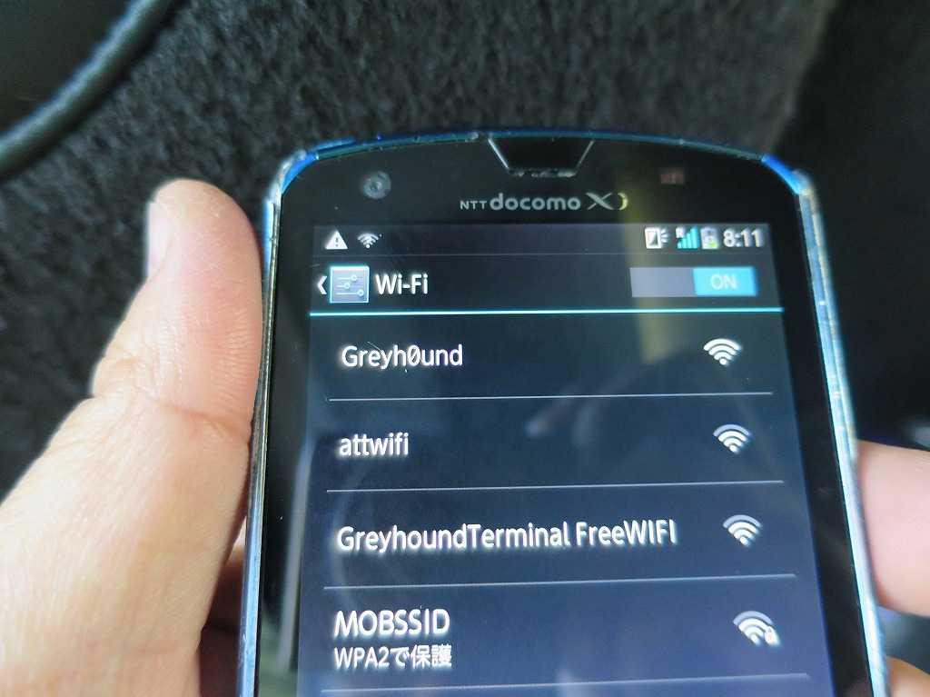 グレイハウンドバスの Wi-Fi