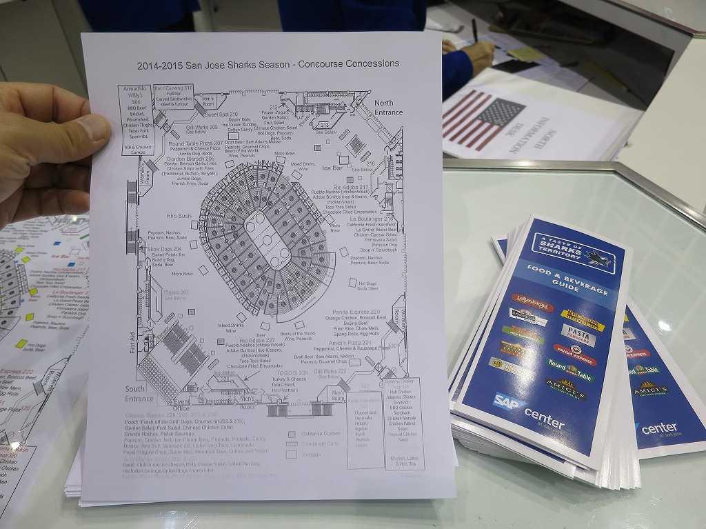 SAPセンター・アット・サンノゼの座席図