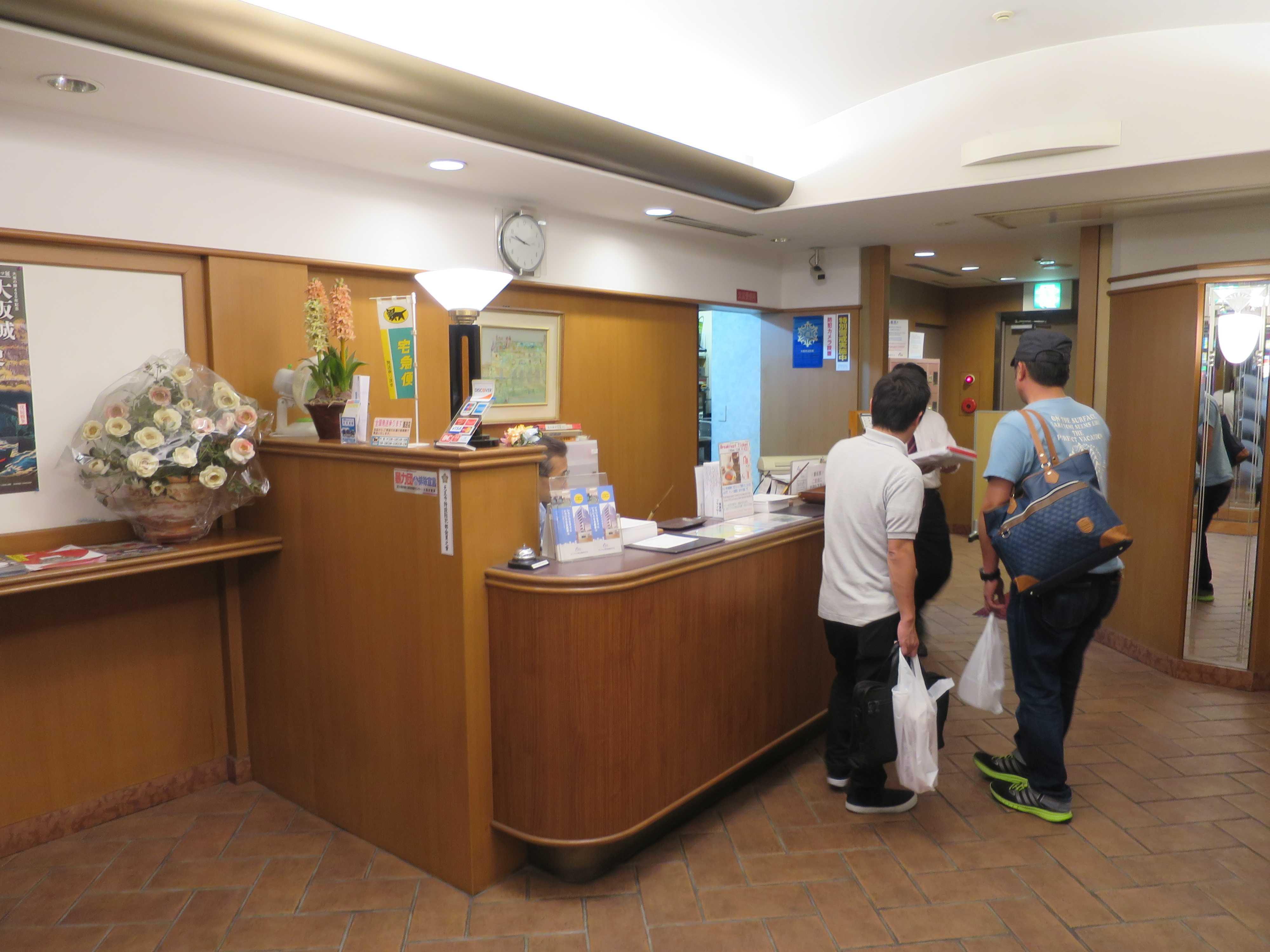 アーベイ天王寺ホテル フロント
