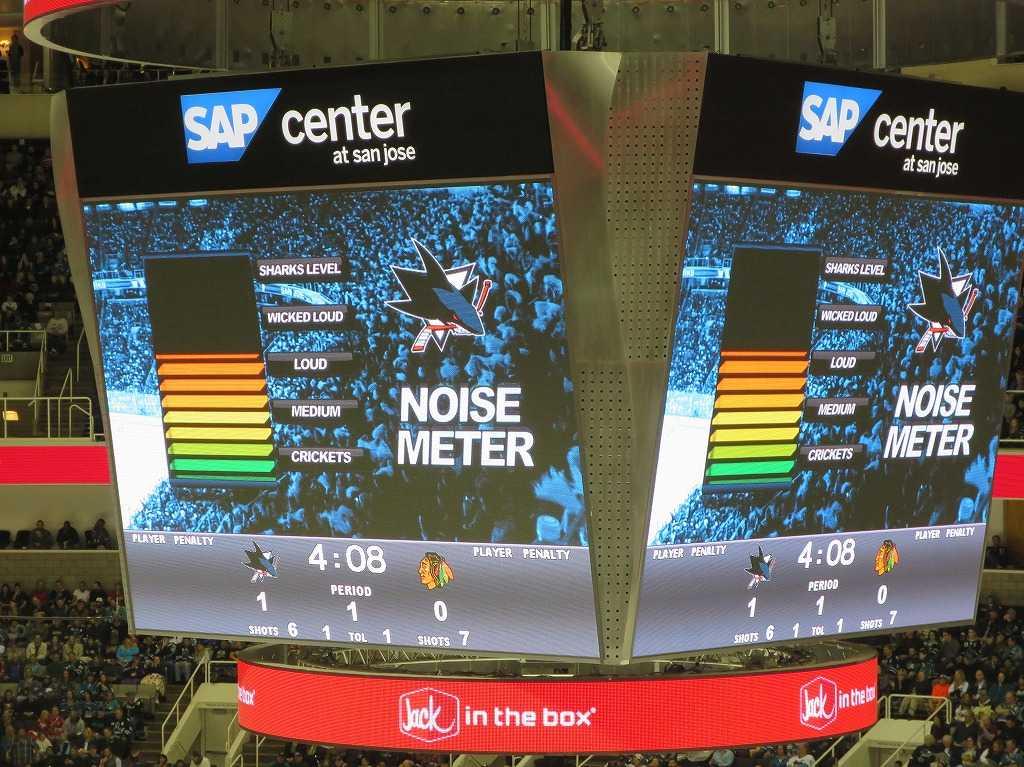 サンノゼ - SAPセンター ノイズ・メーター(NOISE METER)