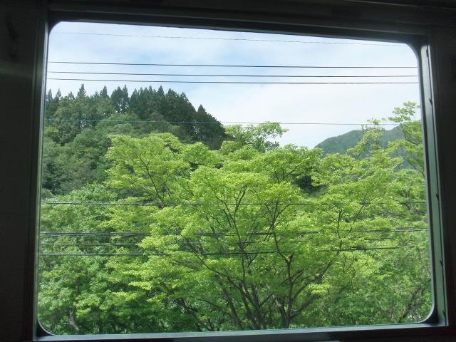 鬼怒川温泉の車窓