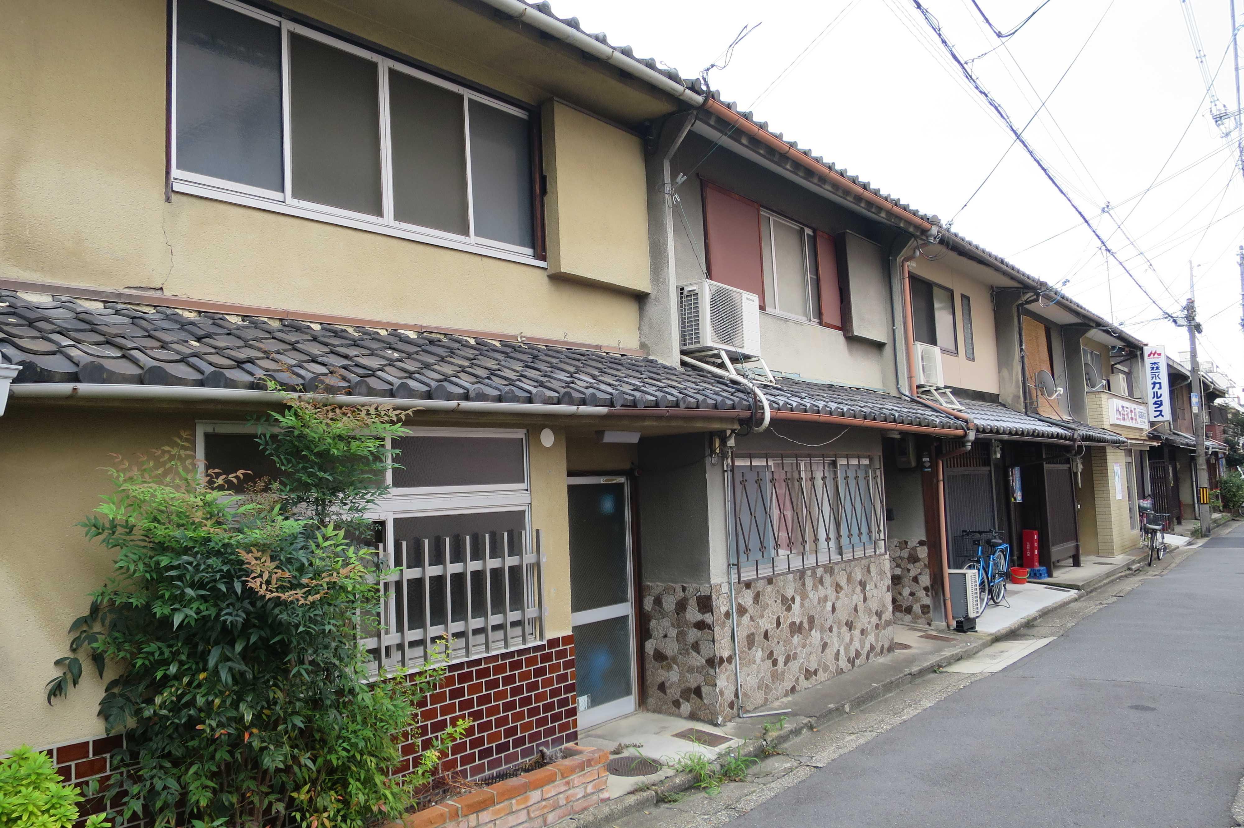京都 - 昭和の長屋的な建物