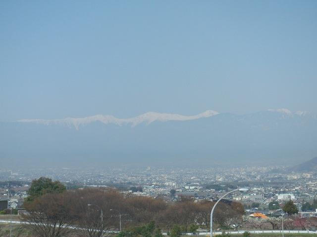 釈迦堂PAから見えた南アルプスの山々