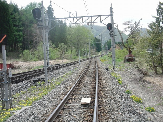 会津鉄道の線路