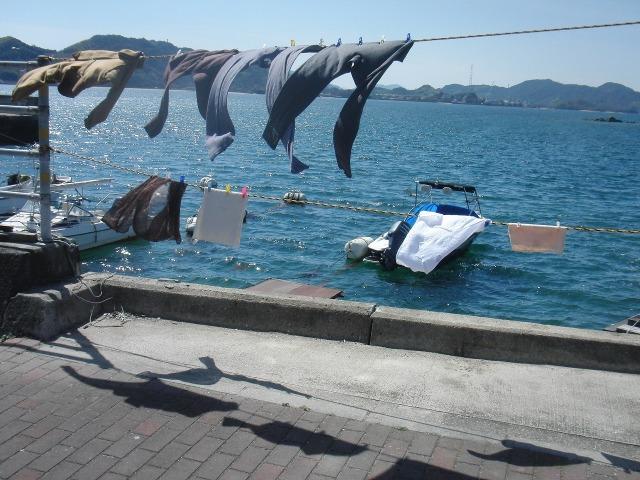 瀬戸内海の洗濯物