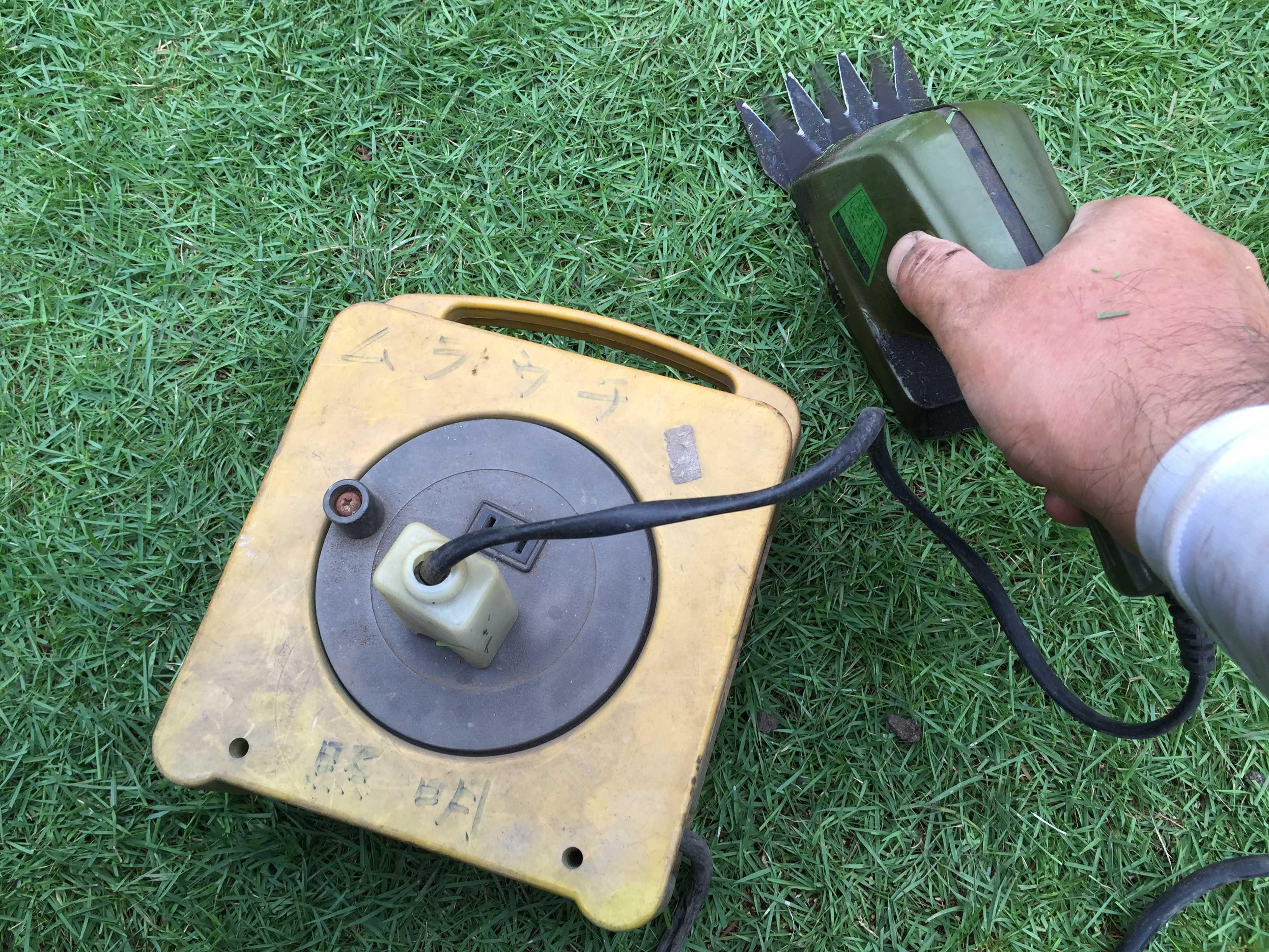 芝刈り - 電源コードリール