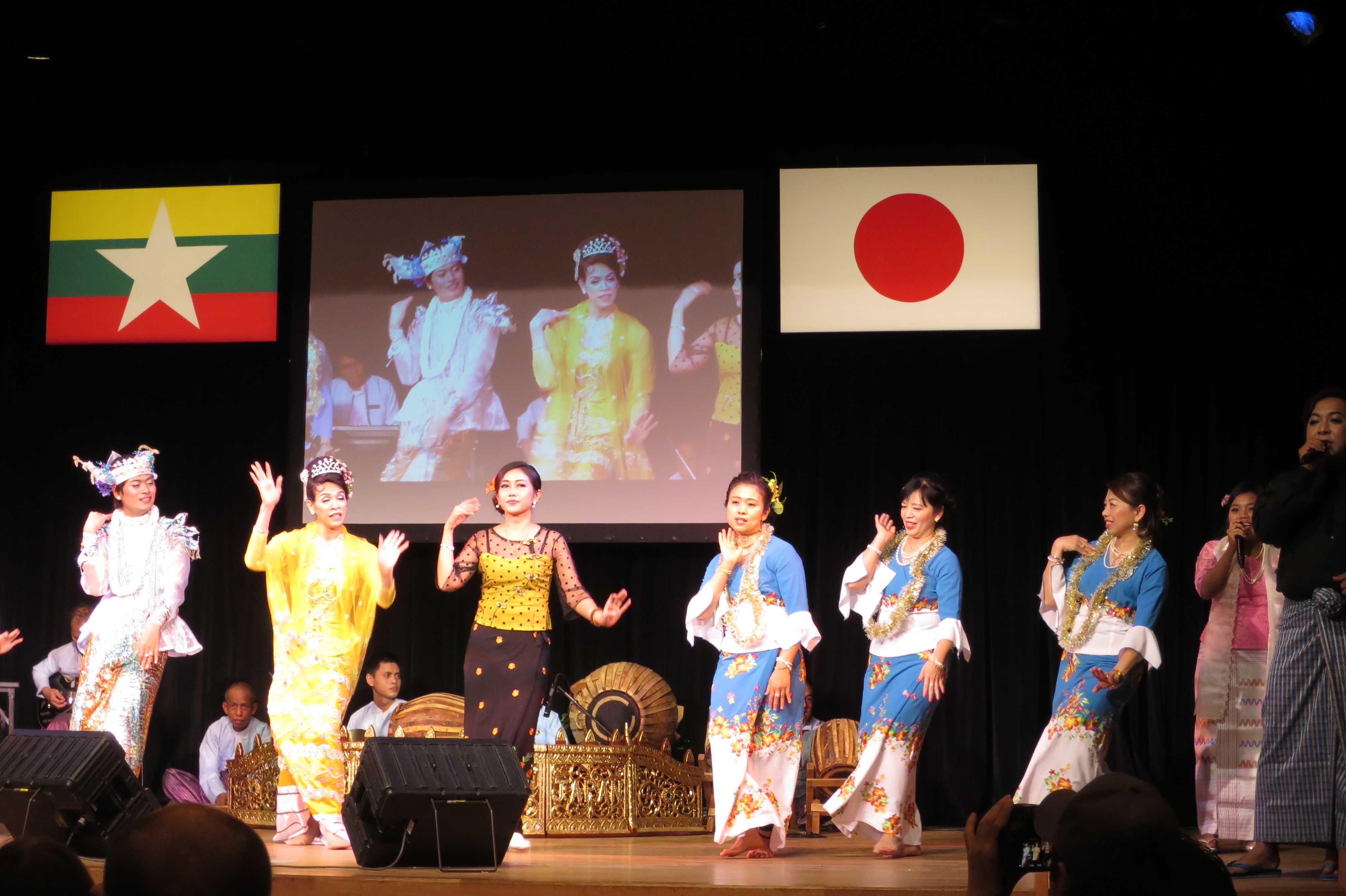 ミャンマーの伝統舞踊 - ミャンマー祭り2016