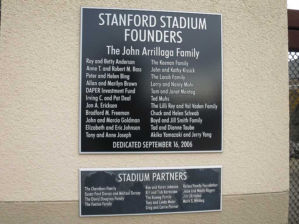 STANFORD STADIUM FOUNDERS The John Arrillaga Family