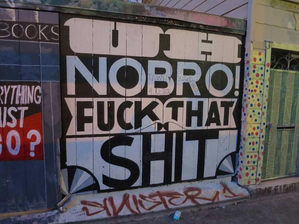 サンフランシスコ(ミッション地区)の落書きアートストリート
