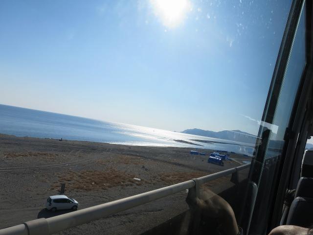 太陽(高知)に照らされる土佐の海