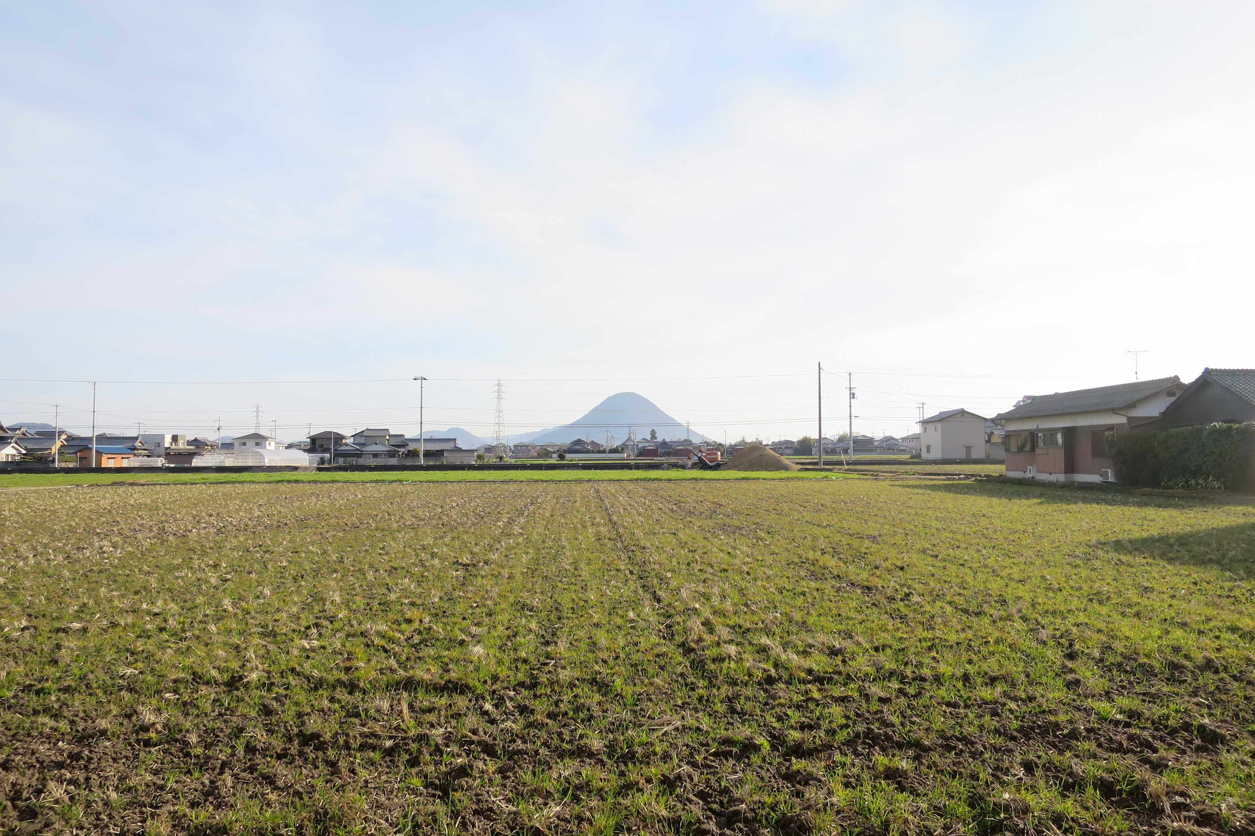 讃岐富士の遠景