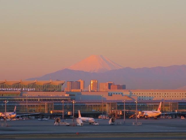 朝焼けの富士