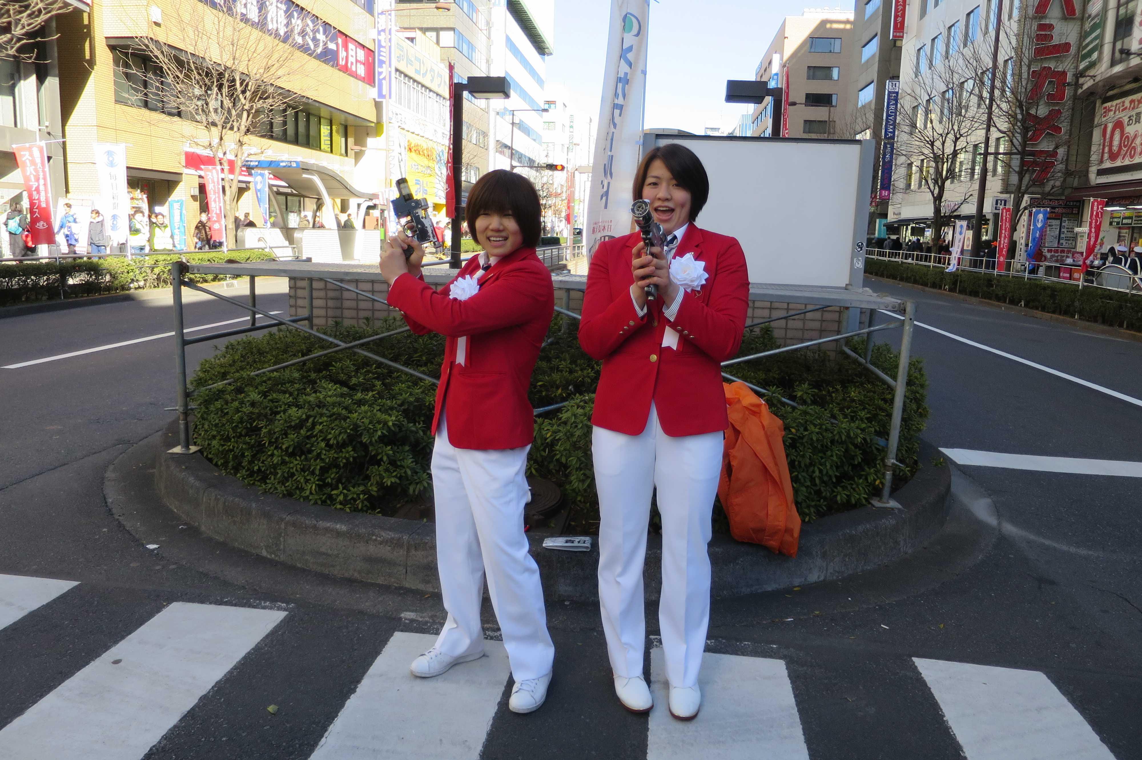 可愛い中村美里選手と田代未来選手