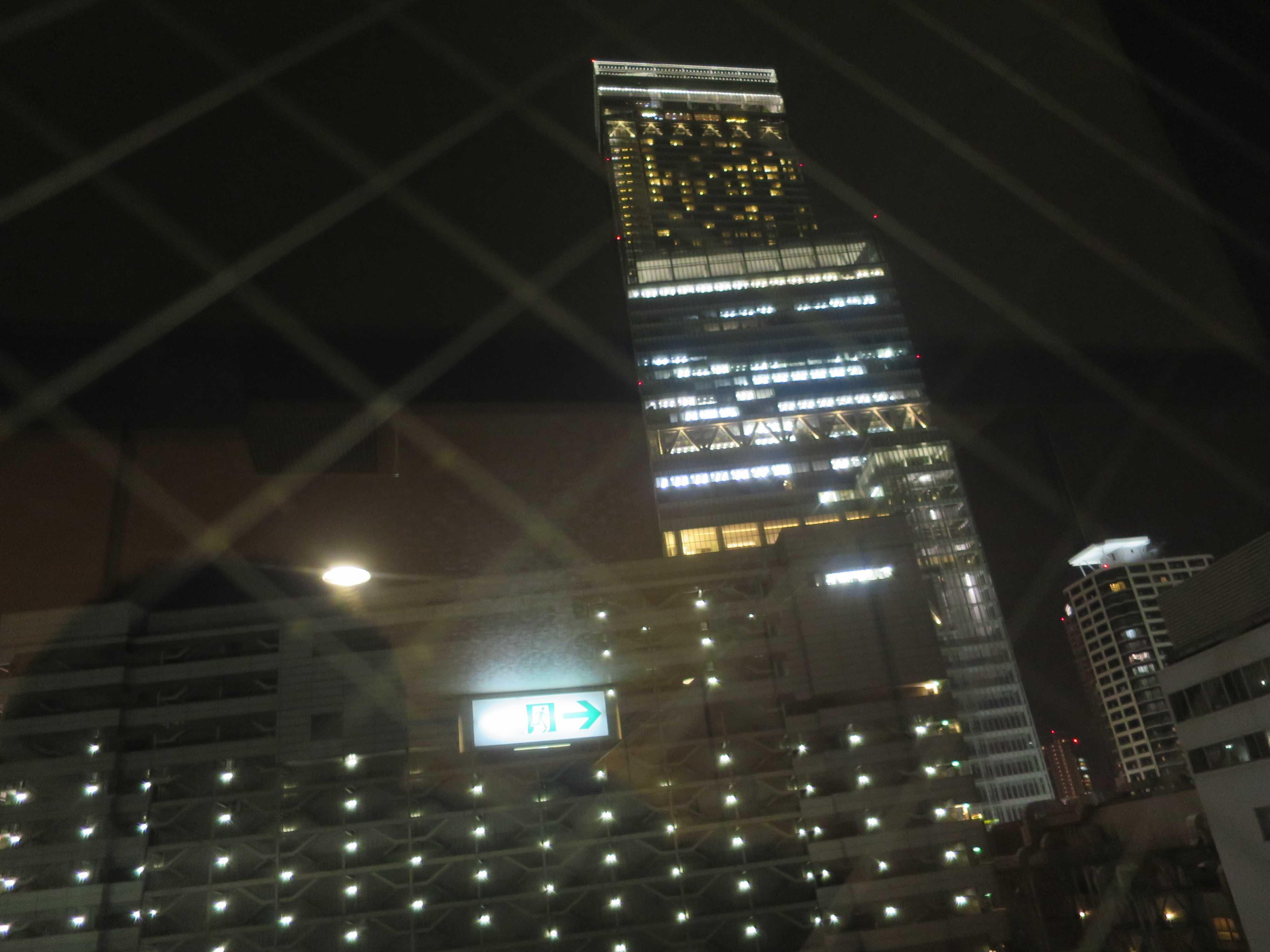 ホテルから見えた 地上300m日本一の超高層ビル あべのハルカス