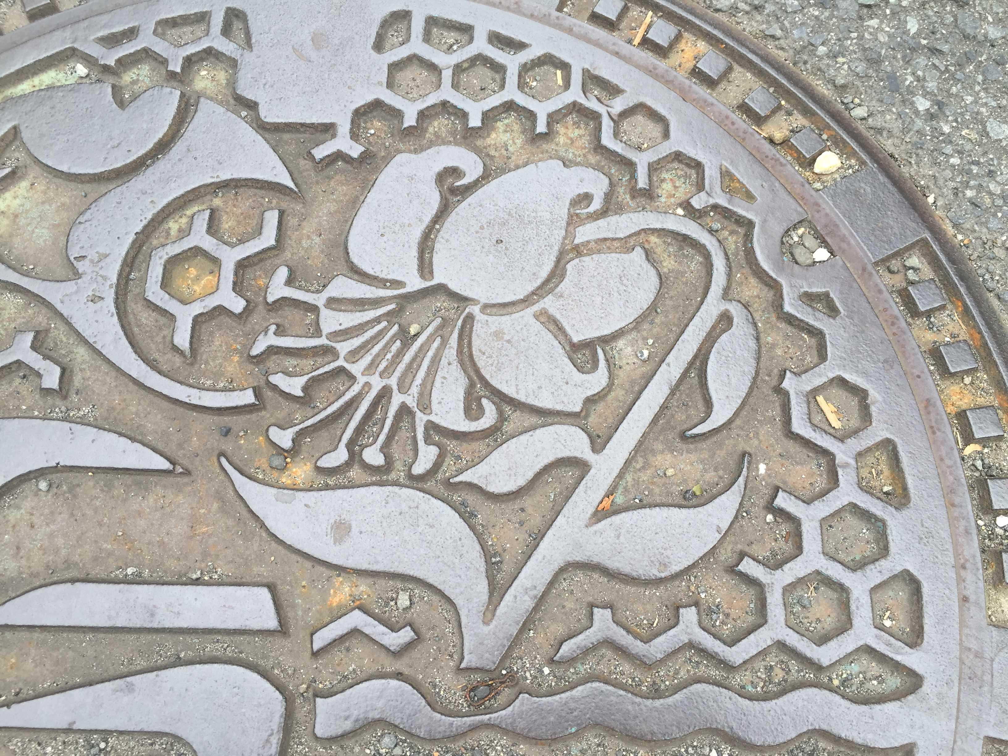 神奈川県 - やまゆりのマンホール蓋