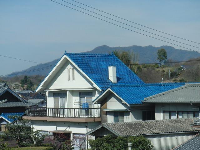 尾道・向島の青瓦屋根
