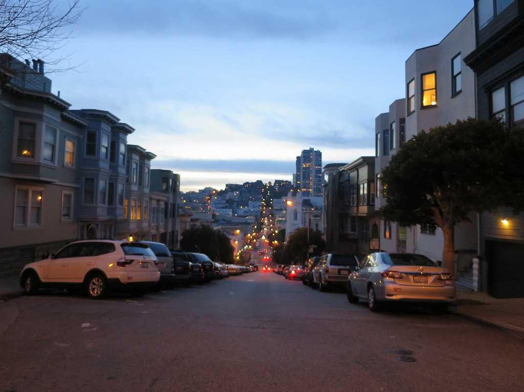 黄昏れる(たそがれる)サンフランシスコの街