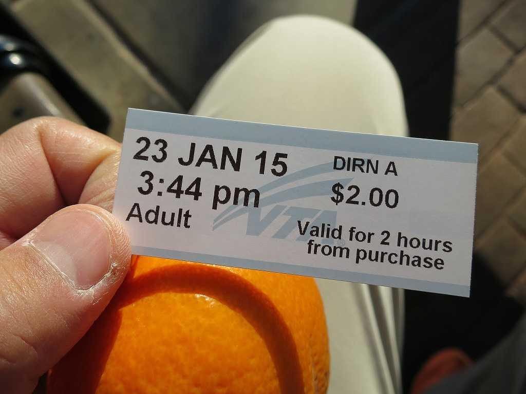 サンノゼ・ディリドン駅 VTAライトレールの乗車券(チケット)