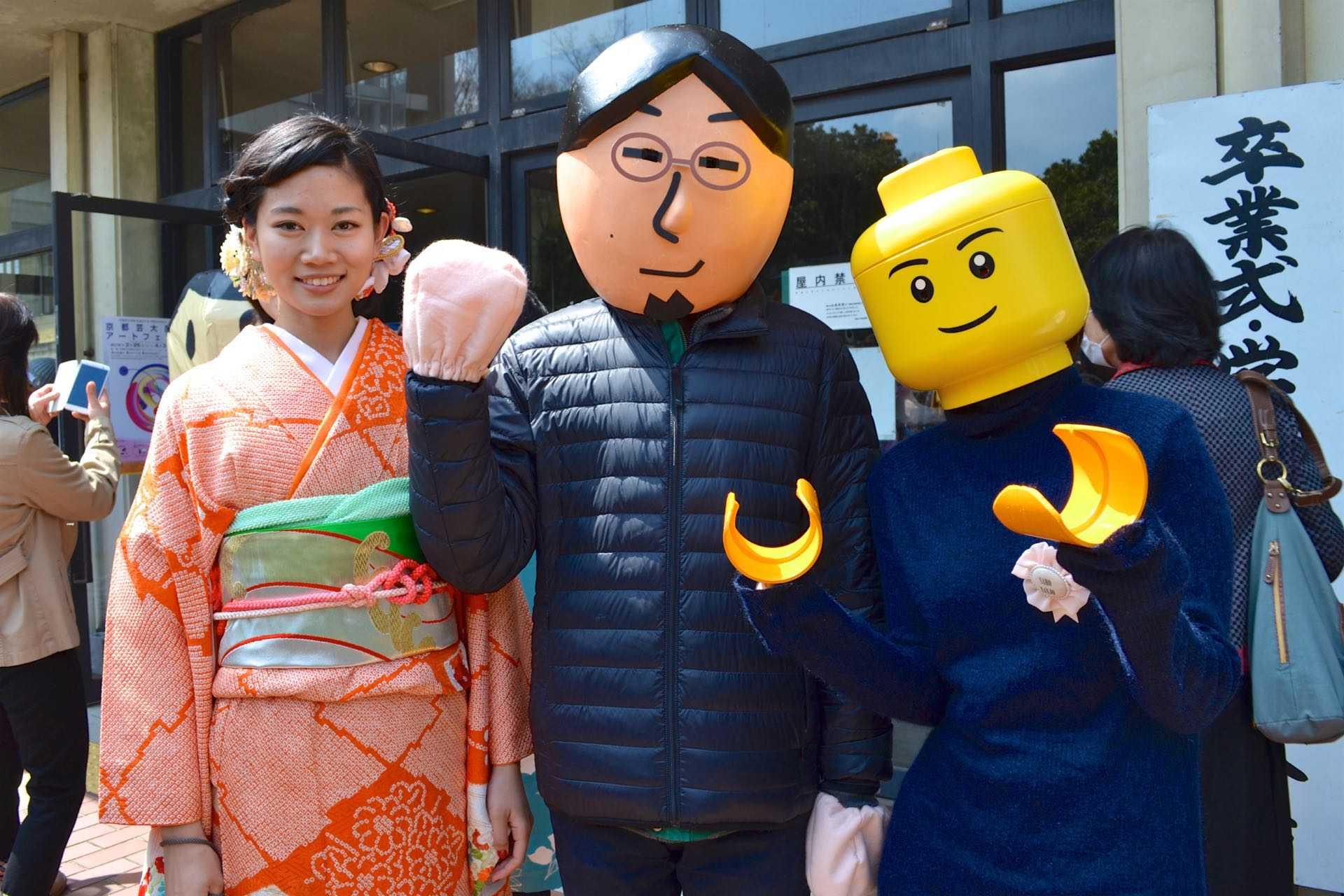 京芸の学生たちのコスプレ