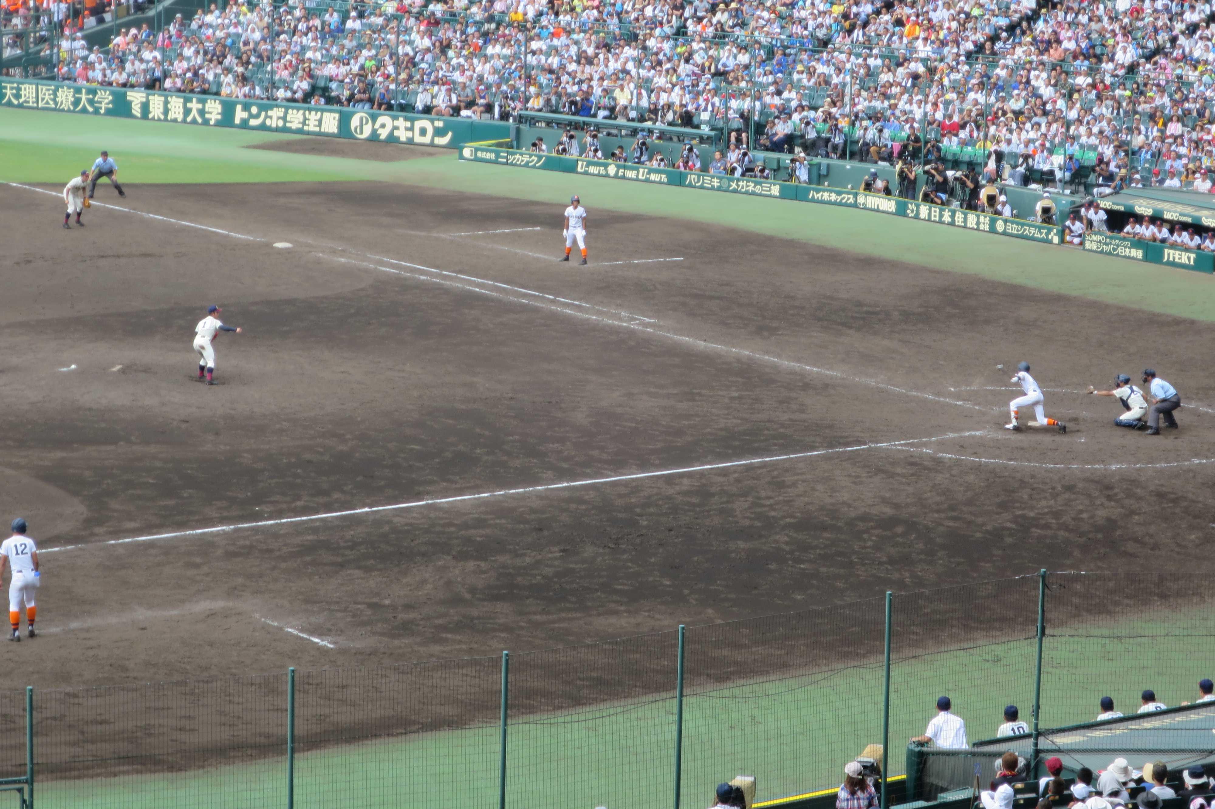 ゲームセット。八戸学院光星 5対4 市立尼崎(延長10回)