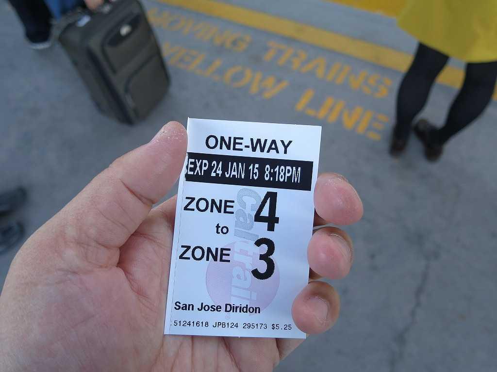 カルトレインのワンウェイチケット(片道切符)