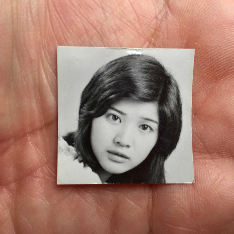 桜田淳子の白黒ブロマイド