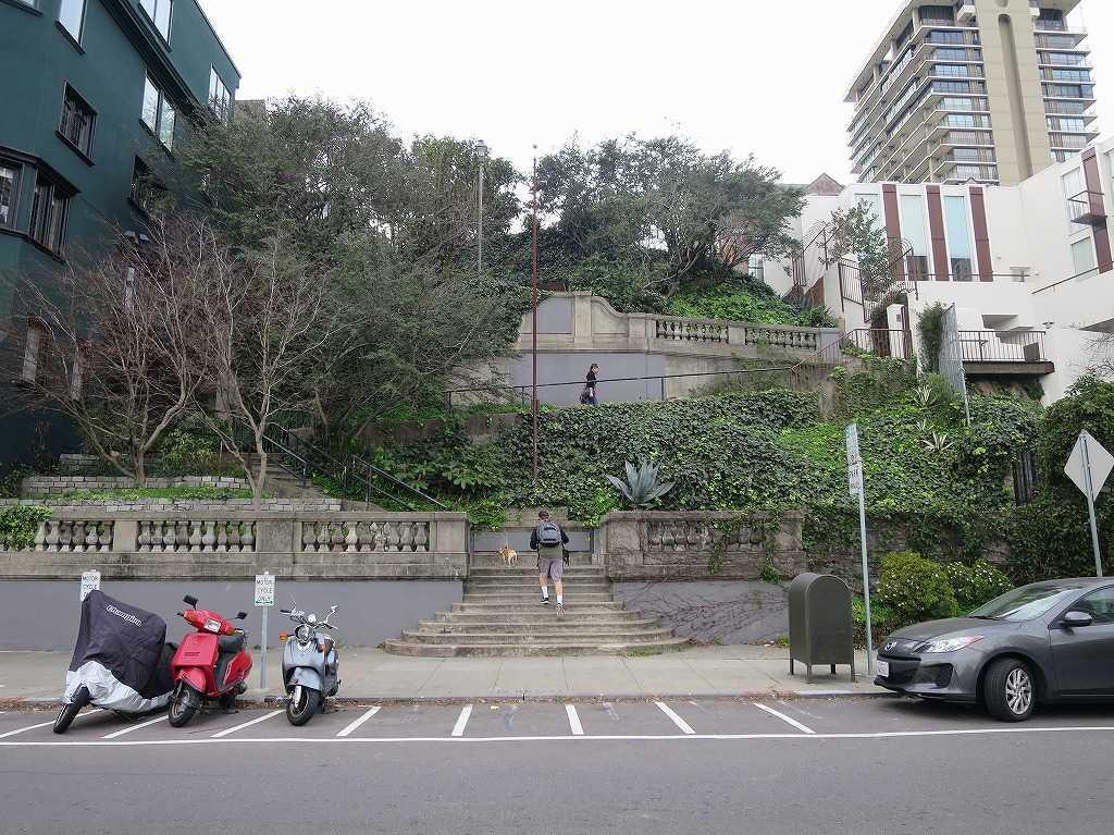サンフランシスコ - バレイヨ・ストリート(Vallejo St)の階段