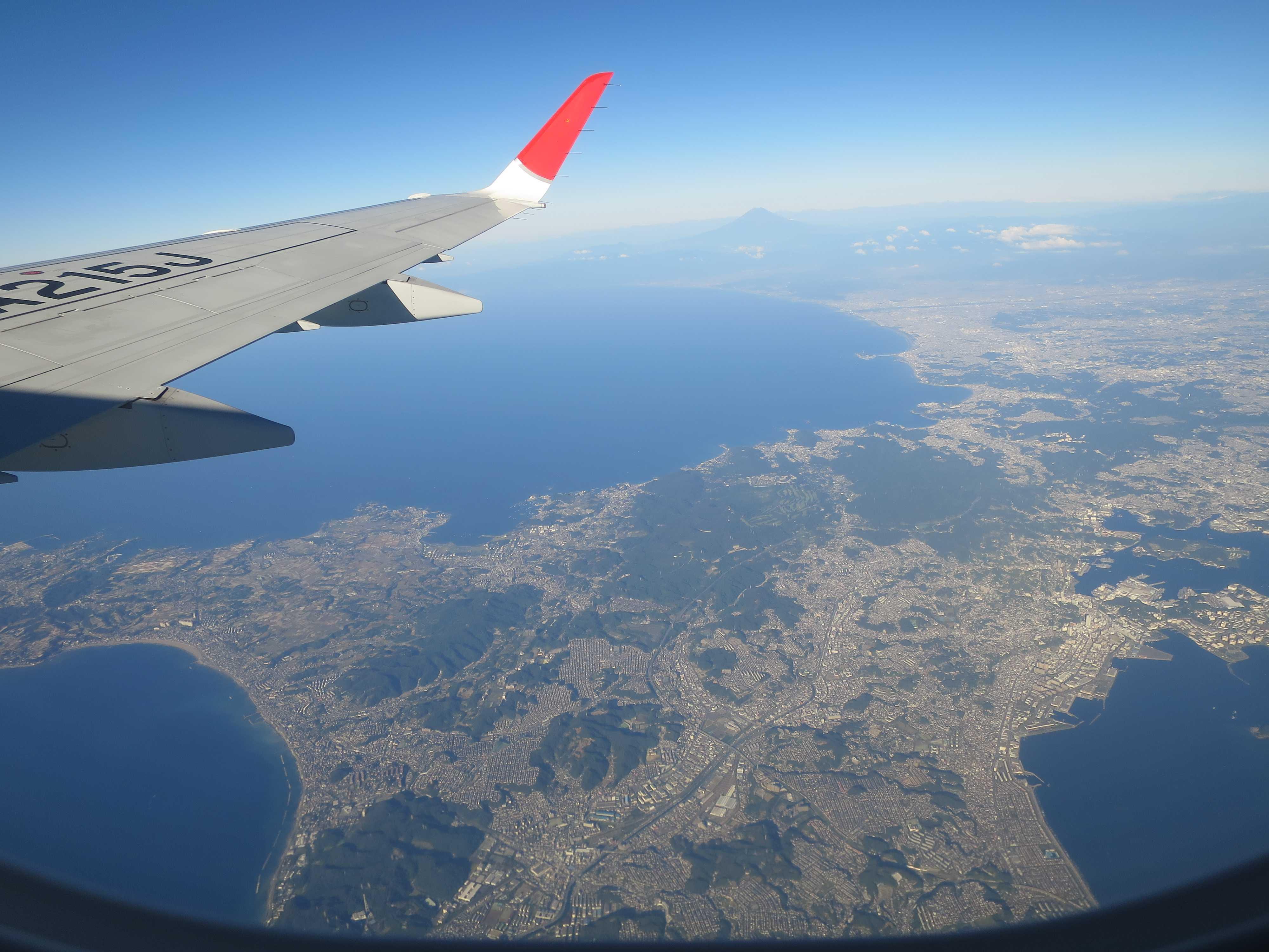 三浦半島上空
